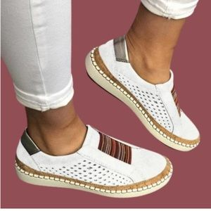 New Noracora white slip-on shoes